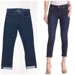 7 For All Mankind Kimmie Straight Cropped Fray 23